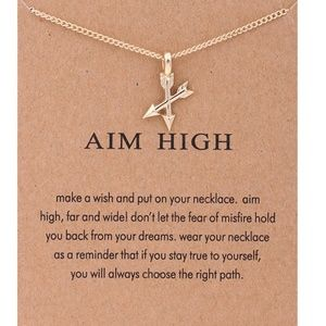 Inspirational Aim High Arrow Charm Necklace NEW